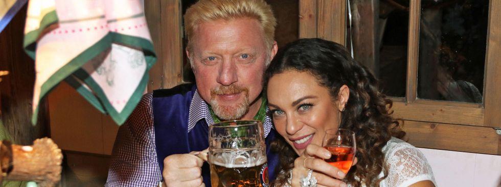 Boris Becker mit Ehefrau Lilly auf der Wiesn 2017, Foto: picture alliance
