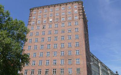 Städtisches Hochhaus an der Blumenstraße.