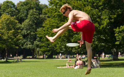 Frisbee im Englischen Garten