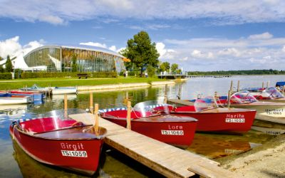 Boote in Prien am Chiemsee