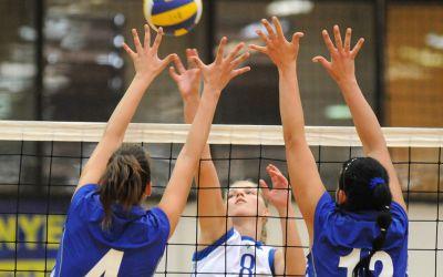 Frauen beim Volleyball