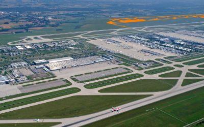Flughafen München von oben