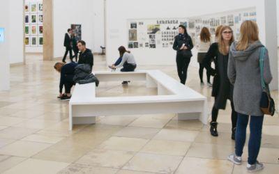 Besucher im Haus der Kunst bei der Langen Nacht der Museen
