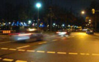 Autos am Abend