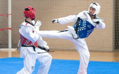 Taekwondo-Kämpfer im Ring