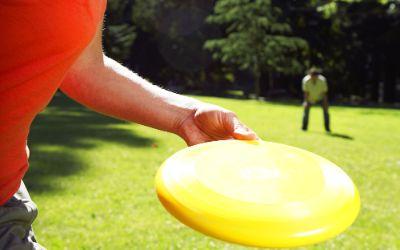 Frisbee spielen im Park