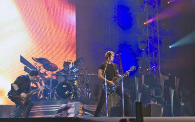 Nickelback bei einem Auftritt