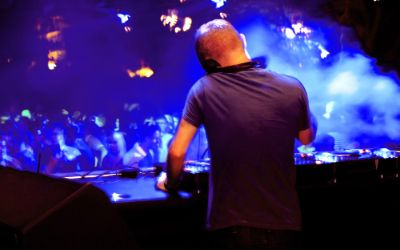 DJ auf Hip-Hop-Party