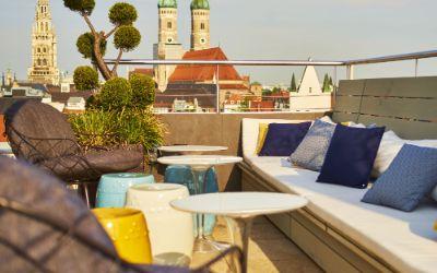 Dachterrasse des Hotels Mandarin Oriental