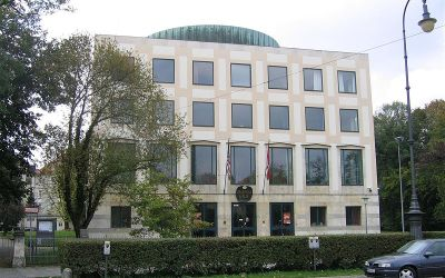 Im Amerikahaus am Karolinenplatz in München werden Veranstaltungen in englischer Sprache angeboten.