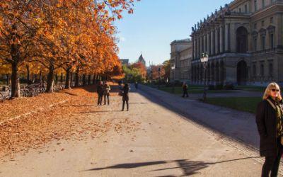 Herbst im Hofgarten bei der Residenz
