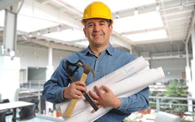 Architekt auf Baustelle