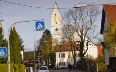 Wohngegend in München Trudering