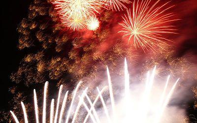 Feuerwerk auf dem Frühlingsfest.