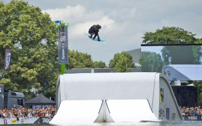 Wakeboarder beim Munich Mash