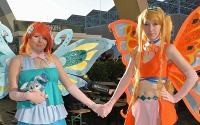 Cosplay-Elfen bei der German Comic Con
