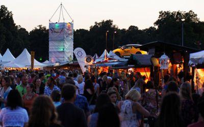 Sinnflut Festival bei Dämmerung