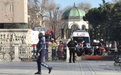 Szene des Terroranschlags in Istanbul