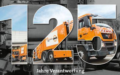 Kampagnenbild zum 125. Jubiläum der Münchner Müllentsorgung.