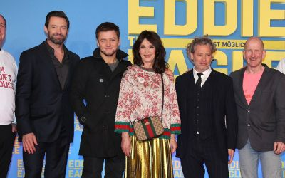 "Premiere ""Eddie the Eagle"" in München."