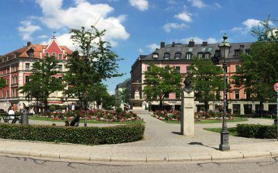 Der Gärtnerplatz in München.