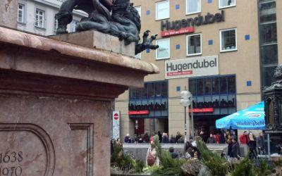 Hugendubel am Marienplatz im Januar 2016
