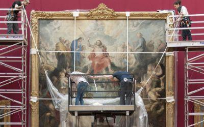 """Die Enthüllung von Peter Paul Rubens' """"Das große jüngste Gericht"""" in der Alten Pinakothek"""