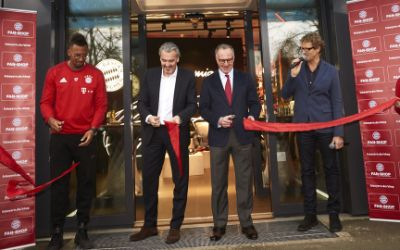 Eröffnung des FC Bayern Fanshops in der Säbener Straße.