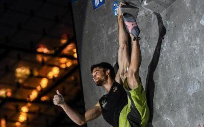 Jan Hojer beim Boulderweltcup