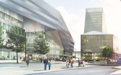 München Hauptbahnhof - Empfangsgebäude & Starnberger Flügelbahnhof: Blick auf den nördlichen Vorplatz