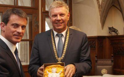 Oberbürgermeister Dieter Reiter und der französische Premierminister Manuel Valls