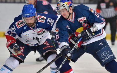 Spielszene EHC Red Bull gegen Mannheim.