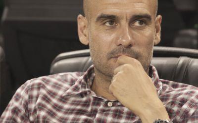 Pep Guardiola bei Pressekonferenz