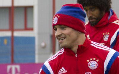 Xherdan Shaqiri vom FC Bayern im Training