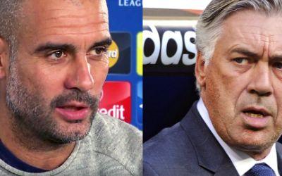 Pep Guardiola und sein Nachfolger beim FC Bayern München, Carlo Ancelotti