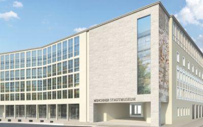Münchner Stadtmuseum, neuer Eingang Blick vom Rindermarkt