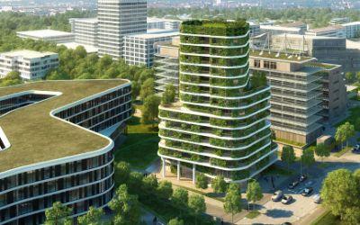 Das geplante Wohnhochhaus an der Arabellastraße 26