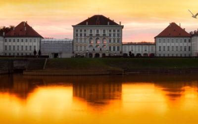 Sonnenuntergang Schloss Nymphenburg