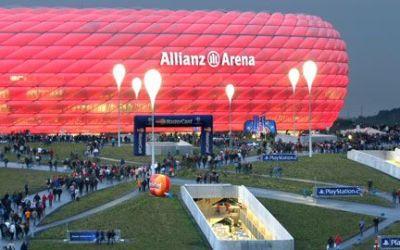 Allianz Arena vor einem Bayernspiel