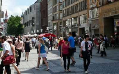 Menschen in der Kaufingerstraße