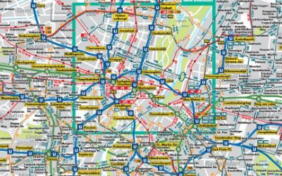 Der Verkehrslinienplan für München