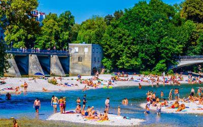 Sommer an der Isar