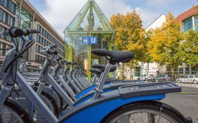 MVG Räder am U-Bahnhof Schwanthalerhöhe