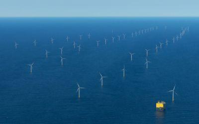 Blick auf den Offshore-Windpark Dantysk