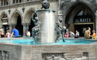 Fischbrunnen am Marienplatz