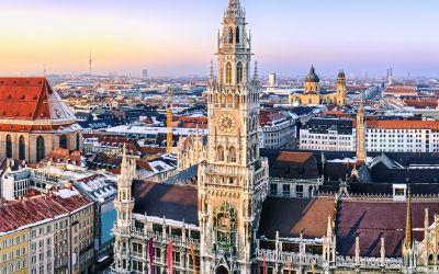 Blick über München im Winter