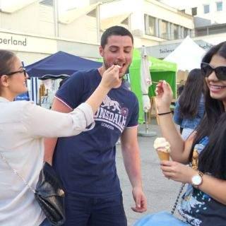 Flohmarkt und Icecreamfestival und entspannte Atmosphäre