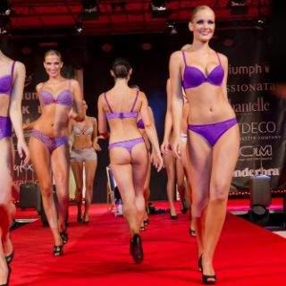 Schnell fielen die Hüllen und zeigten tolle Unterwäsche. Die Dessous und die weiblichen und männlichen Models ließen die Frauen- und Männerherzen im begeisterten Publikum höher schlagen.
