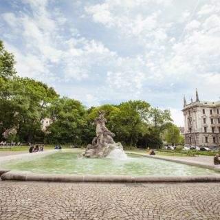 Neptunbrunnen im Alten Botanischen Garten