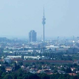 Aussicht vom Fröttmaninger Berg München